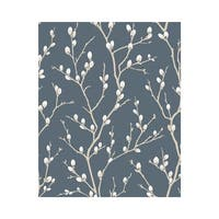 Graham and Brown 33-279 56 Square Foot - Karma Midnight - Non-Pasted Non-Woven Wallpaper - N/A