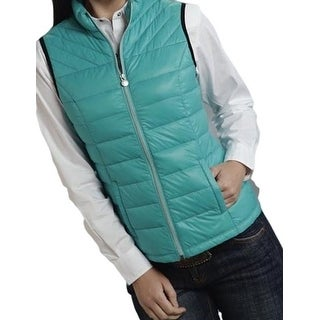 Roper Western Vest Womens Cute Quilted Turquoise