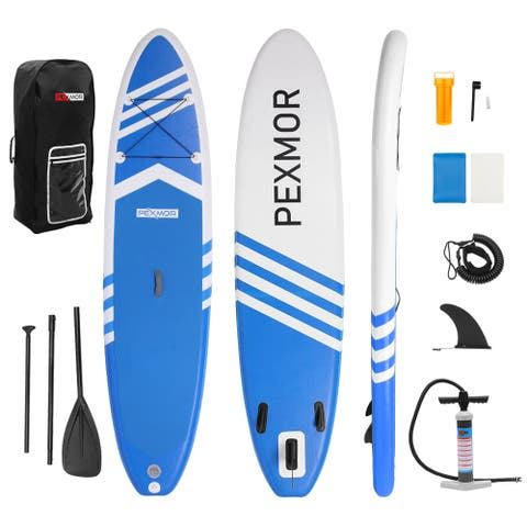 Inflatable Stand Up Paddle Board for Fishing Yoga Paddle Boarding with Premium SUP Accessories & Carry Bag