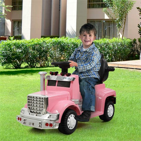 """Best Ride On Cars Mini 3 in 1 Push Car pink - 7'6"""" x 9'6"""""""