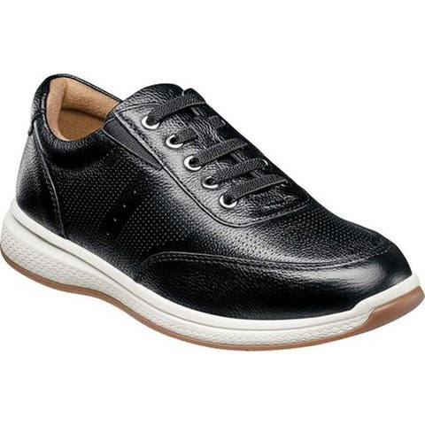 Florsheim Boys' Great Lakes Sport Oxford Jr. Black Leather
