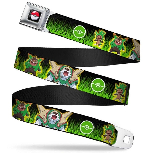 Pok Ball Full Color Black Chespin Evolution Pok Ball Grass Black Greens Seatbelt Belt