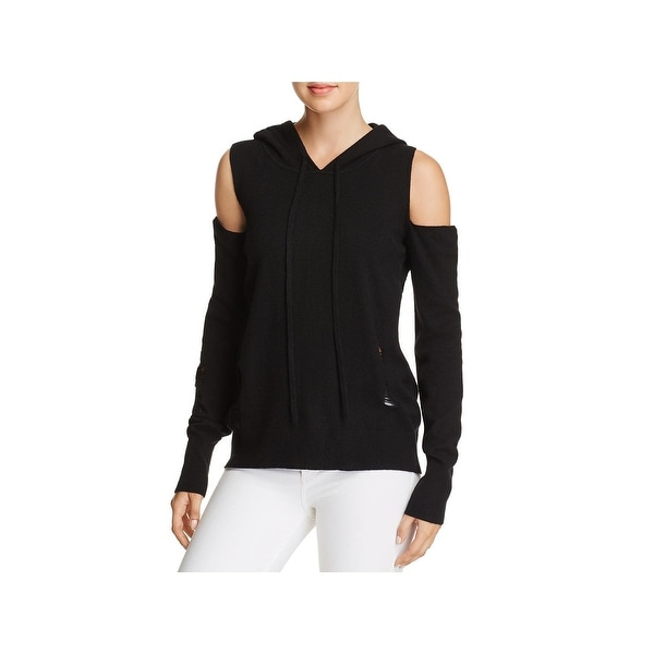 c0655673ff5eb Shop Pam   Gela Womens Hoodie Cashmere Cold Shoulder - Free Shipping ...