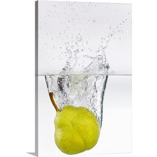 """Pear in water"" Canvas Wall Art"