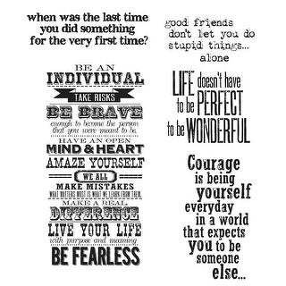 "Tim Holtz Cling Stamps 7""X8.5""-Way With Words"