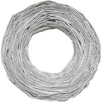 "13"" Glittered Neutral Tones Rustic Artificial Christmas Twig Wreath - Unlit - WHITE"