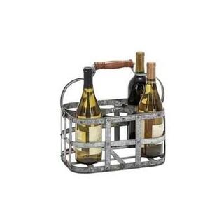 Benzara 38153 New Metal Wine Holder 13 in. W 7 in. H