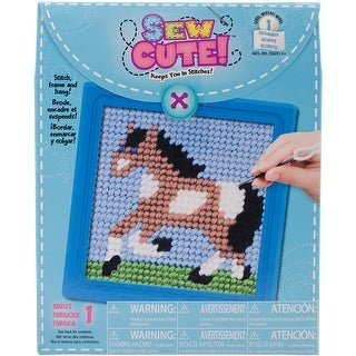 """Sew Cute! Horse Needlepoint Kit-6""""X6"""" Stitched In Yarn - 6""""x6"""" stitched in yarn"""