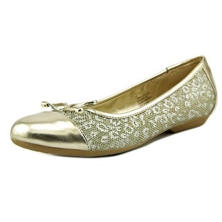 Karen Scott Rylee Women Cap Toe Canvas Gold Flats