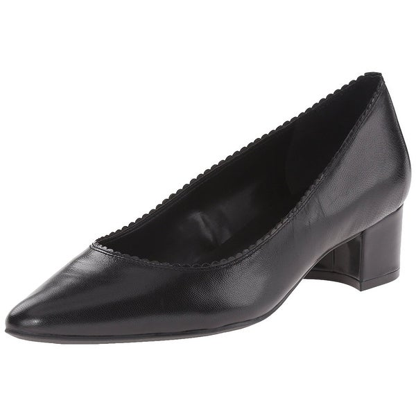 LAUREN by Ralph Lauren Womens HATTIE Leather Closed Toe Classic Pumps