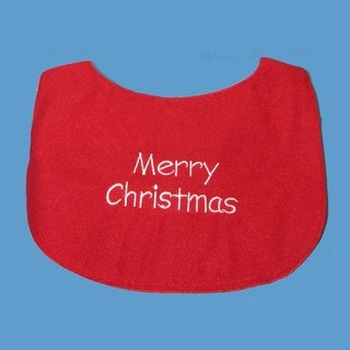 Club Pack of 12 Baby's Red and White Fabric Christmas Bibs