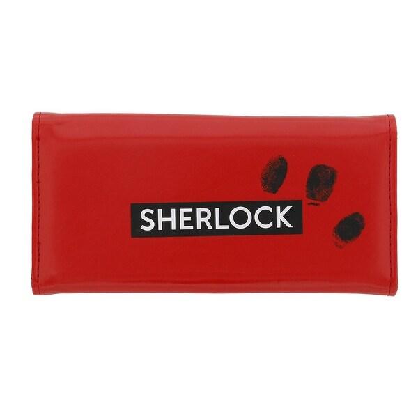 Sherlock Holmes Women's Clutch Wallet: I Am Sher Locked (Red) - Multi