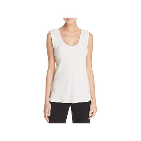 Theory Womens Tank Top Crepe V-Neck