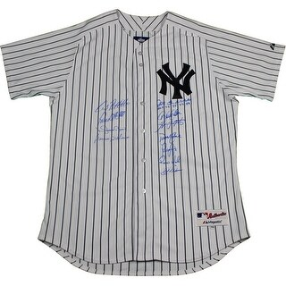 New  York Yankees Dynasty 11 Signature Derek Jeter Authentic 2 Home Pinstripe Jersey w All 4 969899