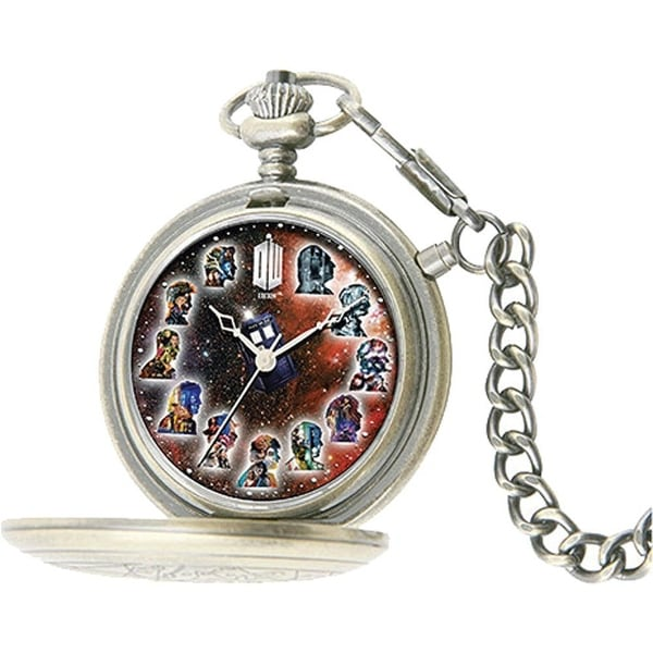 Doctor Who The Master's Fob Watch: 50th Anniversary Silver Pocket Timepiece
