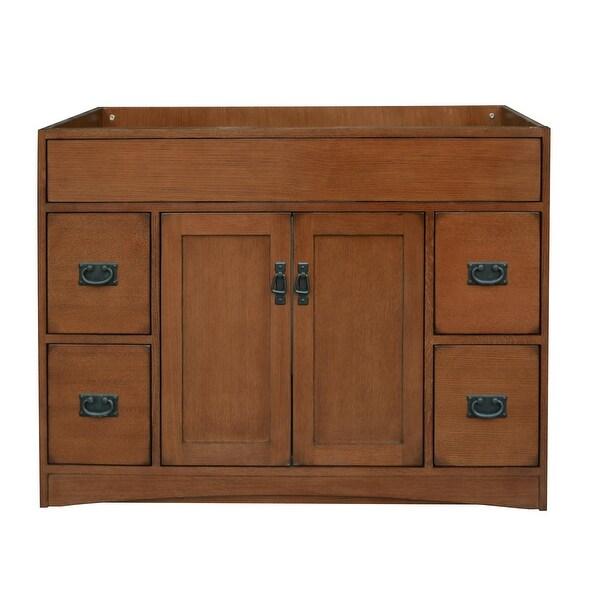 Shop Sunny Wood Mo4821d Mission Oak 48 Vanity Cabinet Only