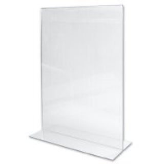 Lot of 10 8 1/2 Inch by 11 Inch Vertical Acrylic Sign Holders