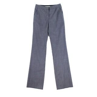 Max Mara NEW Blue Womens Size 4 Flat Front Wool Stretch Dress Pants