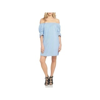 1.State Womens Casual Dress Striped Off-The-Shoulder