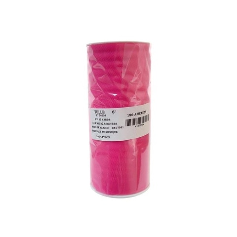 "Offray Tulle 100% Nylon 6"" Hot Pink"