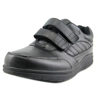 P.W. Minor Performance Walker Double Strap DX2 Men 3E Leather Black Walking Shoe