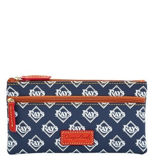 Dooney & Bourke MLB Rays Double Zip Flat Pouch (Introduced by Dooney & Bourke at $85 in Oct 2015) - Navy