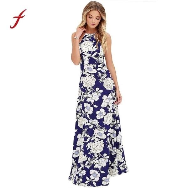 1cd52482e2a88 Maxi Dress 2018 Boho Summer Style Sleeveless Women Long Maxi Evening Party  Night Beach Dress Sundress Vestidos