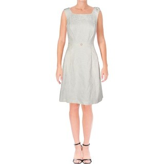 Ellen Tracy Womens Petites Cocktail Dress Fit & Flare Mini - 8P