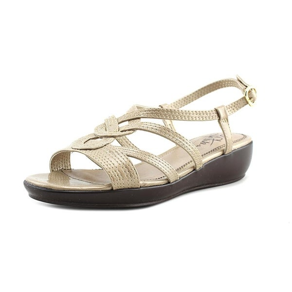 Life Stride Bypass Women W Open-Toe Synthetic Tan Slingback Sandal