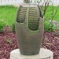 Sunnydaze Bubbling Pot Solar On Demand Outdoor Fountain with LED Light - Thumbnail 0