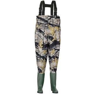 Costway Waterproof Chest Waders Nylon PVC Cleated Bootfoot Fishing & Hunting Camouflage