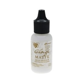 Vintaj Mini Glaze, Metal Sealer and Patina Extender, 0.5 Ounce, Matte Finish