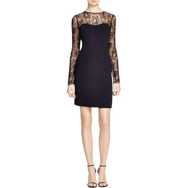 Laundry by Shelli Segal Womens Cocktail Dress Illusion Lace