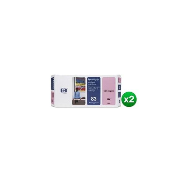 HP 83 Light Magenta DesignJet UV Printhead & Printhead Cleaner (C4965A) (2-Pack)