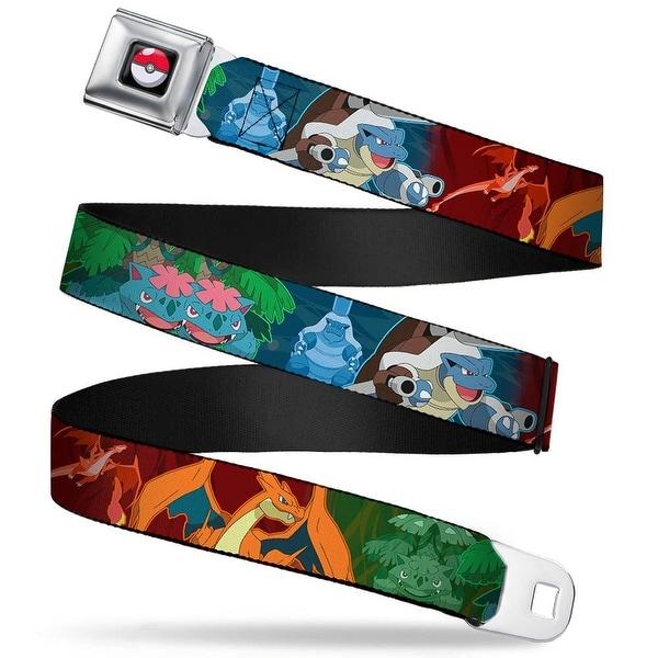 Pok Ball Full Color Black Blastoise Charizard Venusaur Mega Evolutions Seatbelt Belt