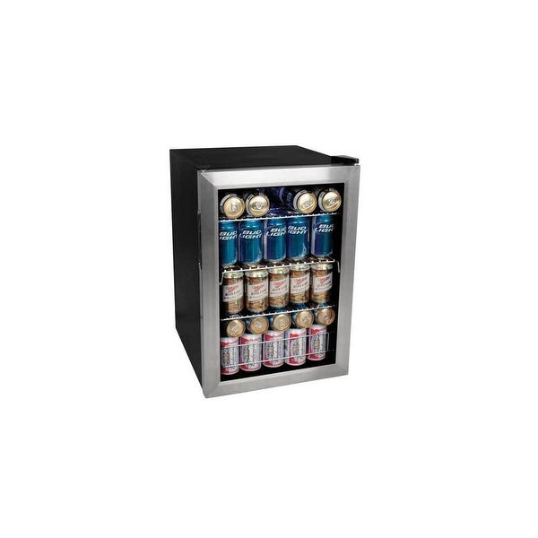 """EdgeStar BWC90 17"""" Wide 84 Can Beverage Cooler with Extreme Cool - Stainless Steel - N/A"""
