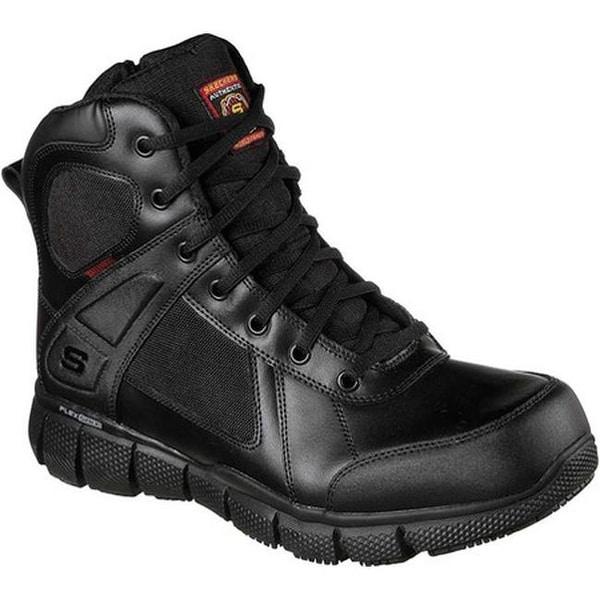 dc6d672bddbb6 Shop Skechers Men's Work Telfin Sawaga Waterproof Boot Black - Free ...