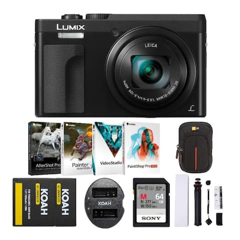 Panasonic LUMIX DC-ZS70 20.3MP 4K Digital Camera with Holiday Bundle