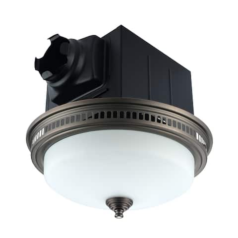 110 CFM Ceiling Exhaust Bathroom Fan with Light and Nightlight