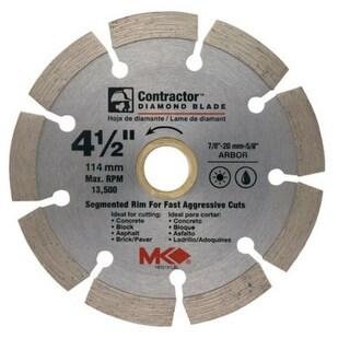 """MK Diamond 167012 Mk-99 Arbor Segmented Rim Diamond Blade, 4.5"""""""