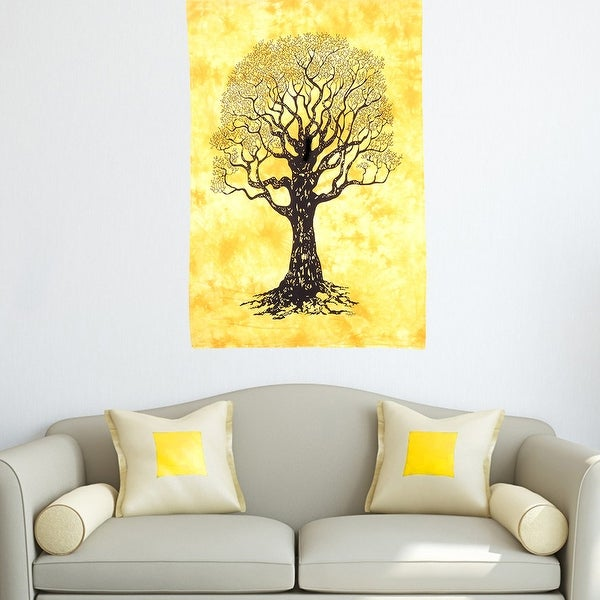 Life of Tree Cotton Wall Hanging Tapestry Printed Poster Decor for Home Dorm Decoration Tapestries