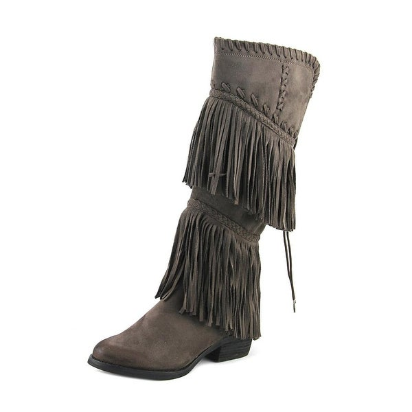Not Rated G-Funk Women Round Toe Canvas Knee High Boot