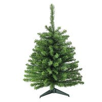 3' Canadian Pine Artificial Christmas Tree - Unlit - green