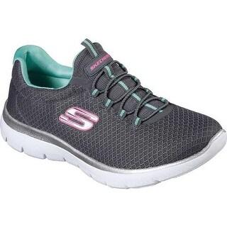 16b22cb89add Shop Skechers Women s Summits Training Sneaker Charcoal Green - On Sale -  Free Shipping Today - Overstock - 19474316