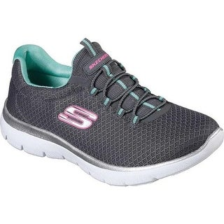 Skechers Women's Summits Training Sneaker Charcoal/Green