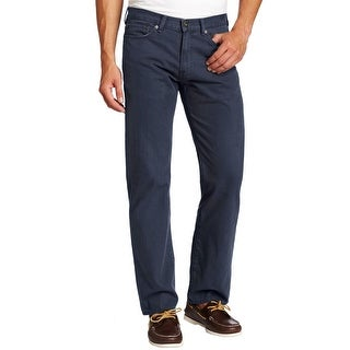 Dockers Straight Fit Standard 5-Pocket Pincord Pants Navy Blue Cotton