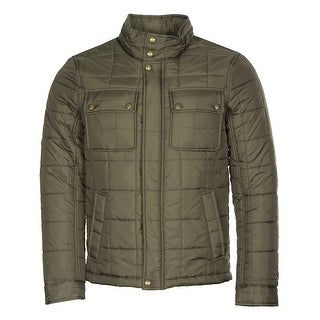 Tommy Hilfiger Hoodie Quilted Field Jacket Olive Green Small