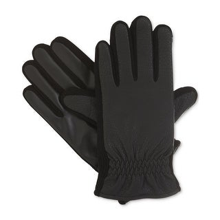Isotoner NEW Black Size Medium M THERMAflex SmarTouch Winter Gloves