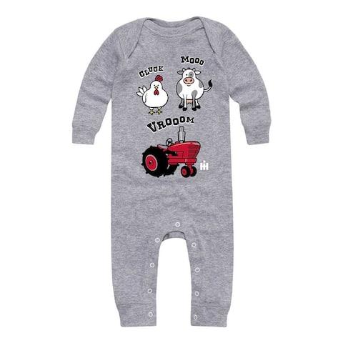 Cluck Mooo Vrooom - Baby Long Legged Bodysuit