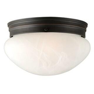 "Design House 514539 10"" Wide Millbridge Traditional / Classic 1 Light Ambient Lighting Flushmount Ceiling Fixture"